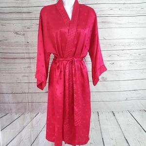 Victoria's Secret vintage pink dot belted robe